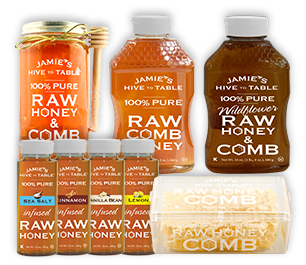 100% Pure Raw Honey & Comb