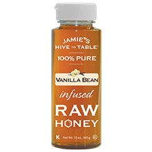 100% PURE Vanilla Bean infused RAW HONEY