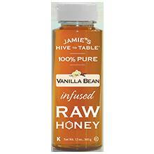 100% PURE Vanilla Bean infused RAW HONEY